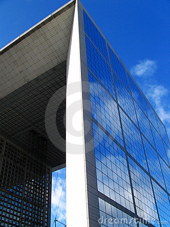 Grande Arche de la Fraterni in La defense of Paris Editorial Photography