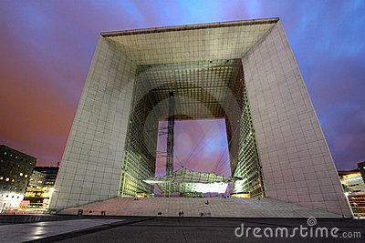 Grande Arche, Paris La Defense, France Editorial Photo
