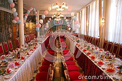 Grande banquete do jantar