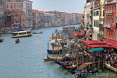 Grande Canal in Venice Editorial Stock Photo