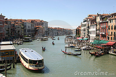 Grande Canal in Venice, Italy