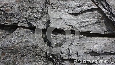 Grande della parete del granito per gli ambiti di provenienza stock footage