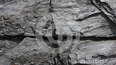 Grande della parete del granito per gli ambiti di provenienza video d archivio