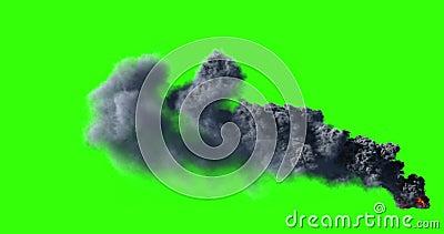 Grande fumée noire 4K clips vidéos
