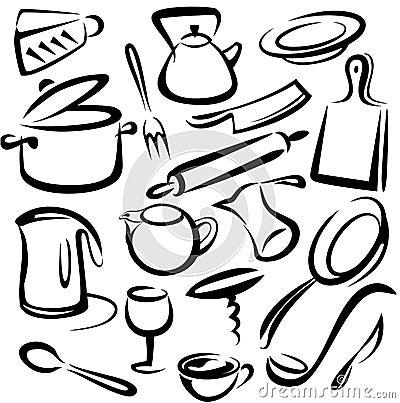utensili e strumenti della cucina fotografie stock libere da ... - Strumenti Cucina