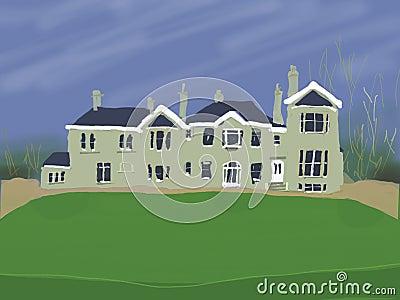 Grande maison de campagne images libres de droits image - Rever d une grande maison ...