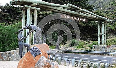 Grande memorial da estrada do oceano Foto Editorial