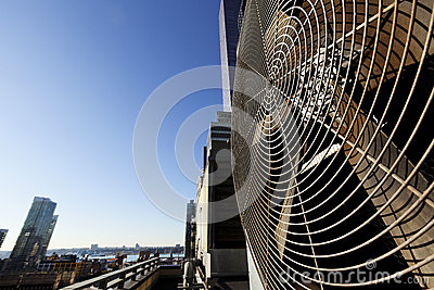 Unidade exterior Manhattan New York de Contidioner do ar urbano da ATAC