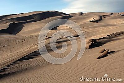 Grande parque nacional de dunas de areia