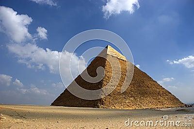A grande pirâmide de Cheops em Giza