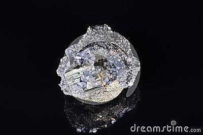 Grande pyrite avec de la galène