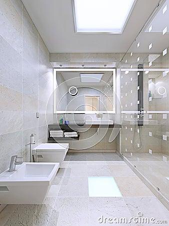 salle de bain avec grande douche salle de bains contemporaine avec la grande p o stock - Grande Salle De Bain Contemporaine