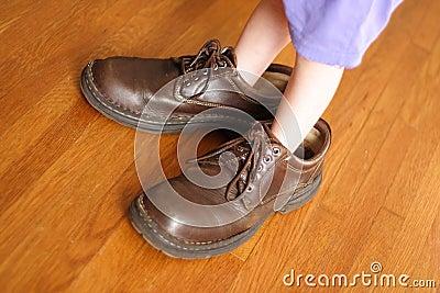Grandes chaussures à remplir