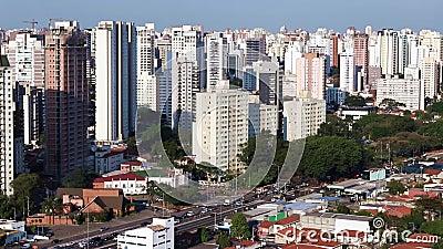 Grandes cidades no dia, cidade de Sao Paulo, Brasil vídeos de arquivo