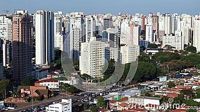 Grandes cidades no dia, cidade de Sao Paulo, Brasil video estoque