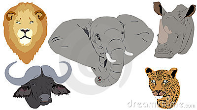 Grandes cinq têtes africaines