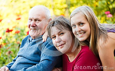 Grandfather with Alzheimer s Disease