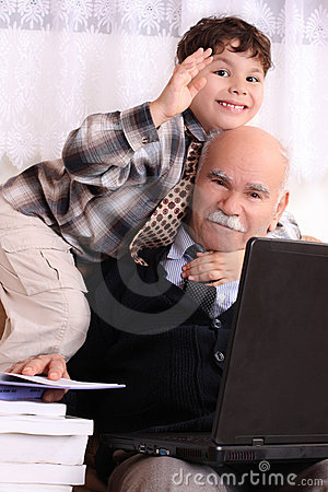 Free Grandfather And Grandson Stock Photo - 8017260