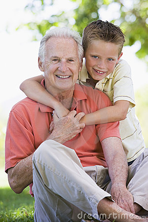 Free Grandfather And Grandson Smiling Stock Images - 5469194