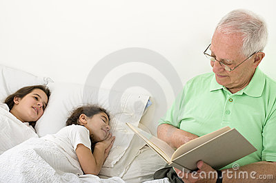 Grandfather bed time story