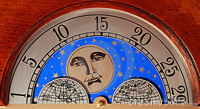 Grandfather Clock Calendar Moon Globe