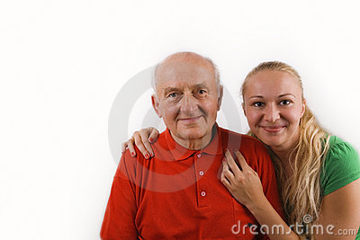 Grandfather and his granddaughter