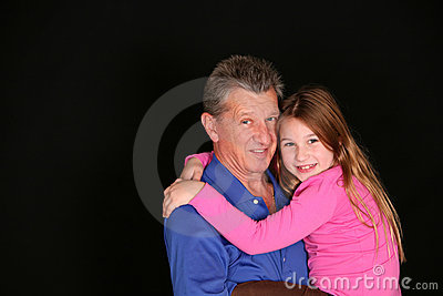 Grandfather and little girl