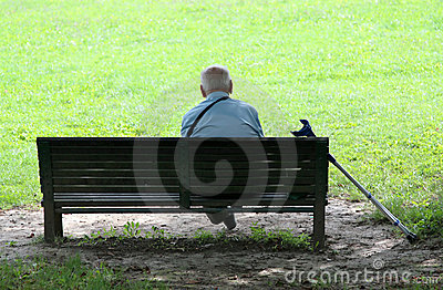 Grandfather in park