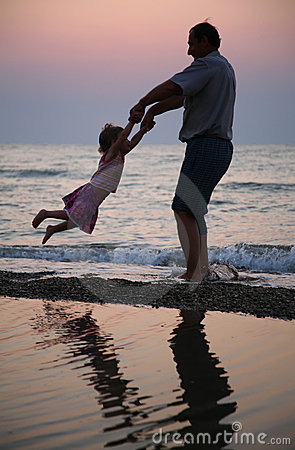Free Grandfather Plays With Child Stock Images - 2949924