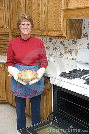 Grandma Baking Apple Pie, Kitchen, Home Cooking