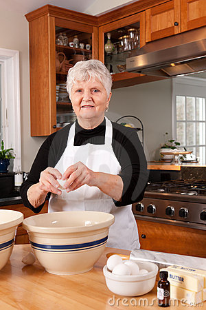Grandma Baking in the Kitchen