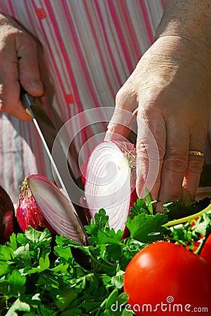 Free Grandma Cooking Stock Image - 2393811