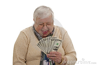 Grandma with Dollars