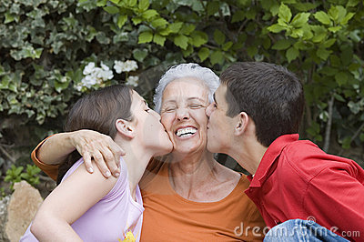 Grandma with grandchildren