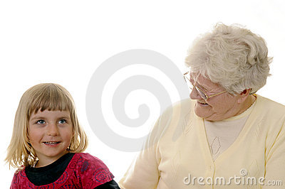 Grandma and granddaughter