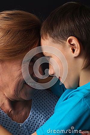 Grandma with her beloved grandson