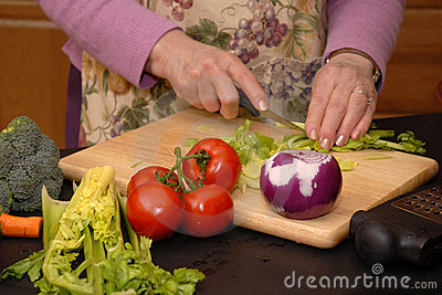 Grandma Makes a Tossed Salad