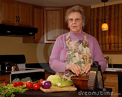 Grandma s Making Salad