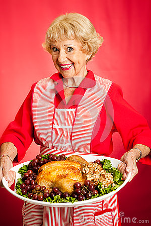 Grandma Serves Holiday Dinner