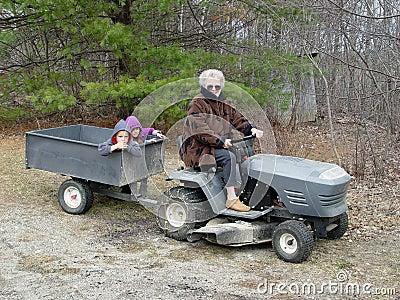 Grandma trucking grandkids