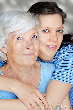Free Grandmother And Granddaughter Stock Image - 5263461