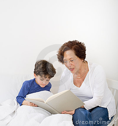 Grandmother bed time story