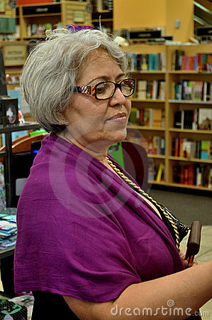 Grandmother at the book store