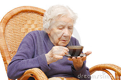 Grandmother from coffee