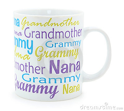 Grandmother Coffee Mug over White