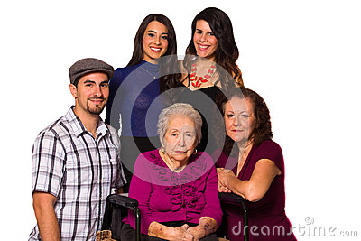 Grandmother and family