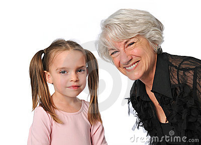 Grandmother and grandaughter
