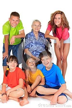 Grandmother with grandchildren