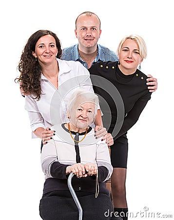 Grandmother with grandchildren