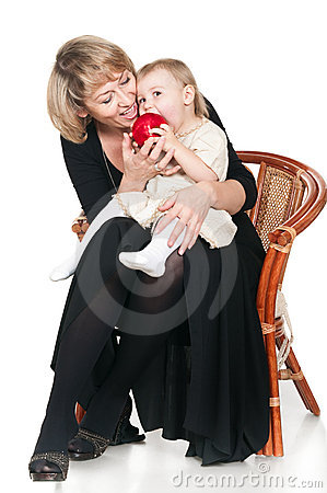 Grandmother and granddaughte